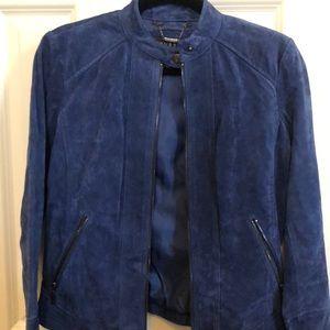 NWOT Navy Blue Leather Jacket